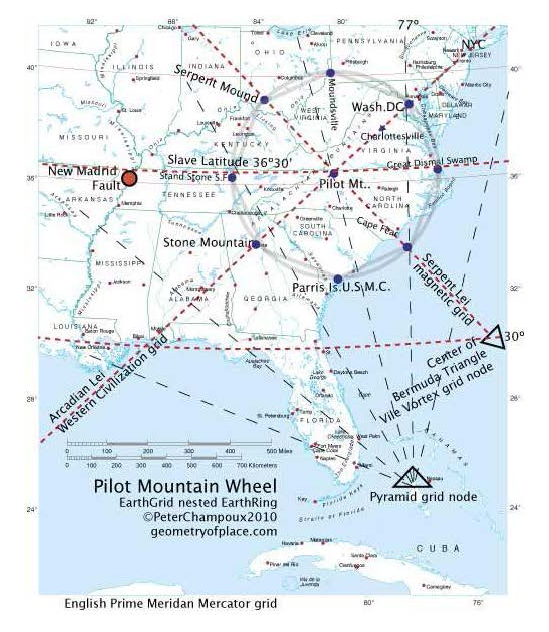 Ley Line Map Pilot Mountain2 Ocracoke Observer - Us-ley-lines-map